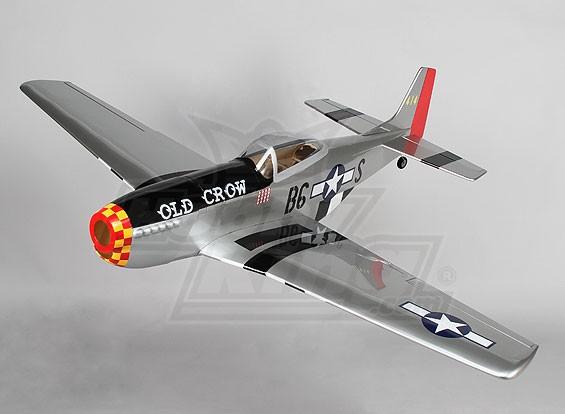 P-51Dオールドクロウ1206ミリメートルバルサ(ARF)
