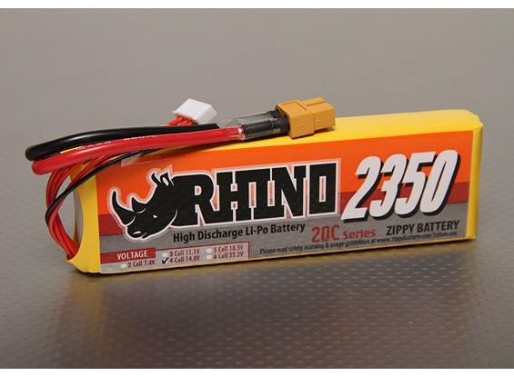 Rhinoの2350mAh 4S1P 20C Lipolyパック