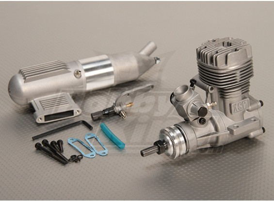 ASP S52A 2ストロークグローエンジンリモートHSニードルバルブ/ワット