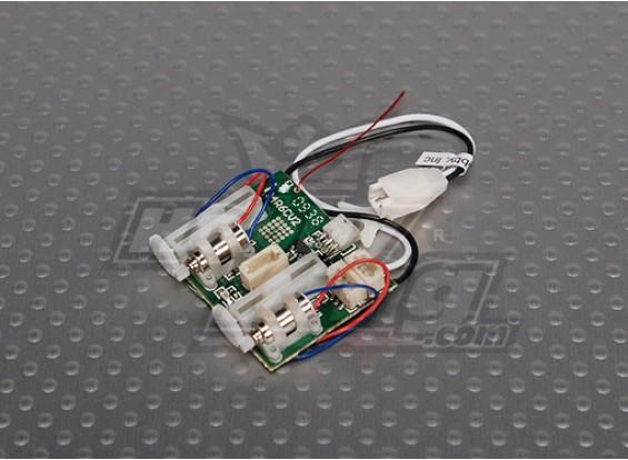 AR6400 DSM2 6CHウルトラマイクロレシーバ/ ESC /サーボ