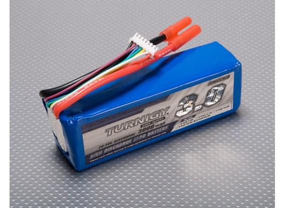 Turnigy 3000mAhの6S 20Cリポパック(T-REX 500用グレート)