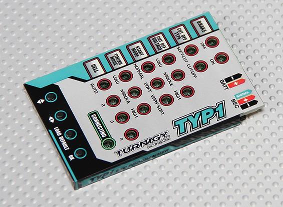 Turnigy TY-P1 25AmpブラシレスESCのプログラミングカード