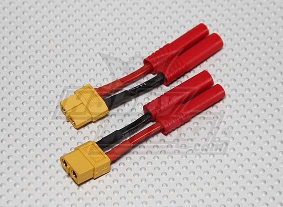 XT-60バッテリーアダプターにHXT 4mmの(2個/袋)