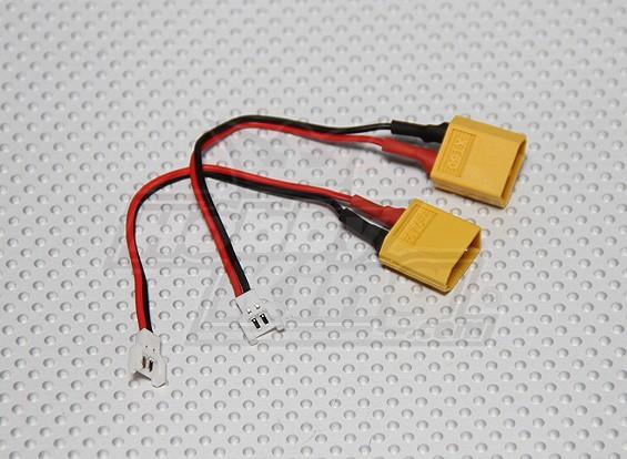 マイクロLosiへXT60充電アダプタ(2個/袋)