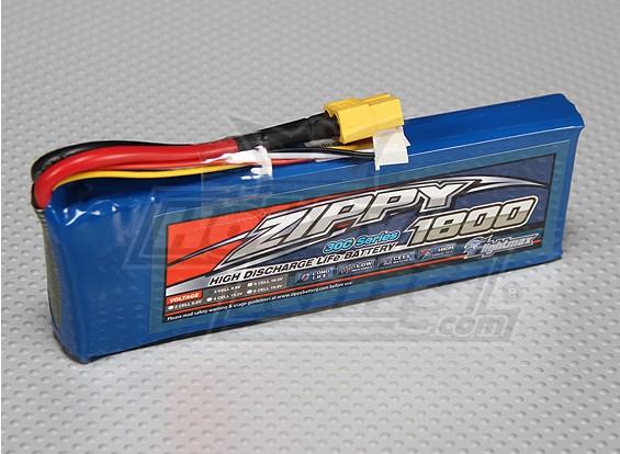 ジッピーFlightmax 1800mAhの3S1P 30CのLiFePO4パック