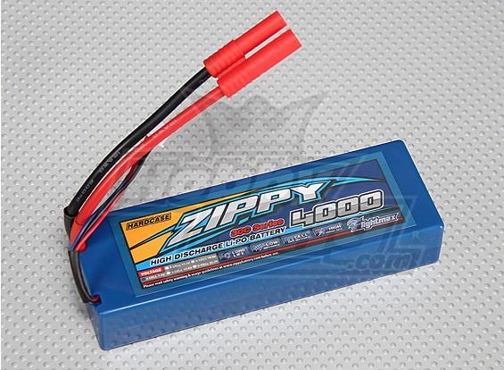 ジッピー4000mAh 2S1P 30Cハードケースパック