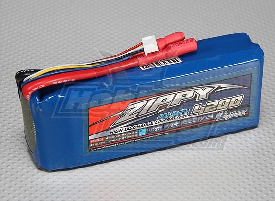 ジッピーFlightmax 4200mAh 4S1P 30CのLiFePO4パック