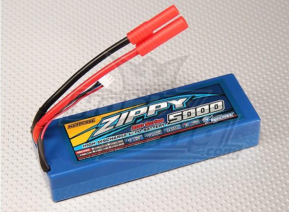 ジッピー5000mAに2S1P 20Cハードケースパック