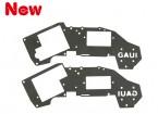 6グラム〜9グラムサーボ(203447)のためのGAUI H200V2ブラックアッパーフレームセット