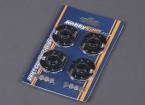 RCドリフトカー用LEDホイールライト - レッド(4個入)