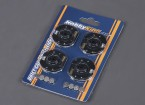 RCドリフトカー用LEDホイールライト - オレンジ(4本入り)