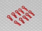 ミニボディクリップ(赤)(10PCSの)
