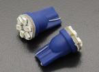 LEDコーンライト12V 0.9W(6 LED) - ブルー(2個)