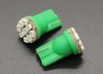 LEDコーンライト12V 1.35W(9 LED) - グリーン(2個)