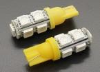 LEDコーンライト12V 1.8W(9 LED) - イエロー(2個)