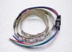 LED赤、緑、青(RGB)ストリップ50cmのワット/フライングリード