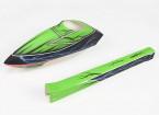 HK /トレックス-450用のグラスファイバースポーツスタイル胴体(グリーン)