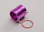 紫のアルミ製水冷ジャケット(36ミリメートル)