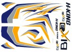 HobbyKing®Bix3トレーナー1550ミリメートル - 交換デカールセット