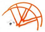10インチのプラスチック製ユニバーサルマルチロータープロペラガード - オレンジ(2SET)