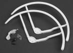 8インチのプラスチック製のマルチロータープロペラガードのためDJIファントム1  - ホワイト(2SET)