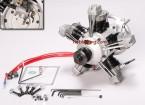 ASP FS400ARフォーストローク5シリンダーグローエンジン