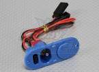 充電ポート・燃料ドットブルーとヘビーデューティRXスイッチ