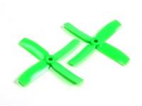 Gemfan 4040 Bullnose Polycarbonate 4 Blade Propeller Green (CW/CCW) (1 Pair)