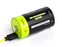 Znter 1.5V D Size 6000mAh USB Rechargeable LiPoly Battery (1pc)