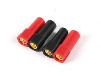 XT150コネクタワット/ 6ミリメートルゴールドコネクタ - レッド&ブラック(5pairs /袋)
