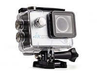 4K Ultra HD 30FPS WiFi Sports Action Camera 170 degree White w/Full Accessories Package