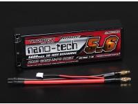 Turnigyナノテクノロジーの5600mahの2S2P 50〜100Cハードケースリポパック(ROAR APPROVED)
