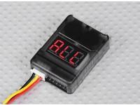 低電圧アラーム付きHobbyKing™電池チェッカー(2S-8S)