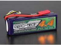 Turnigyナノテクノロジー4400mah 4S 65〜130℃リポパック