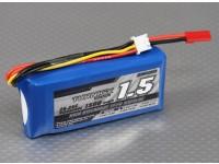 Turnigyの1500mAh 2S 25C Lipolyバッテリー