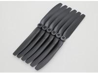 GWS EPプロペラ(DD-8040 203x102mm)、ブラック(6PCS /セット)