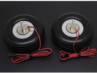 """Turnigy電気磁気ブレーキホイール(ノーコントローラ)80ミリメートル(3.0 """")ホイール(2PC)"""