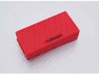 Turnigyソフトシリコンリポバッテリープロテクター(1000-1300mAh 3Sレッド)74x36x21mm