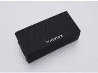 Turnigyソフトシリコンリポバッテリープロテクター(1000-1300mAh 3Sブラック)74x36x21mm