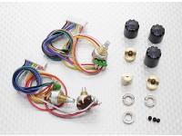 Potentiameter(ラウンドポット) -  Turnigy 9XR送信機(3SET)