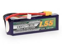 Turnigyナノテクノロジー1550mah 6S 65〜130℃リポパック(450Lヘリ)