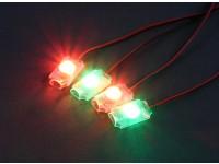 Turnigy低電圧アラーム - スーパーブライトLEDライトセット(2×レッド/グリーン)