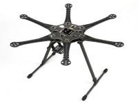 統合されたPCBの550ミリメートルとS550 Hexcopterフレームキット(ブラック)