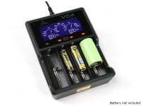 ニッケル水素/リチウムイオン電池用のXTAR VC4充電器(4ポート)