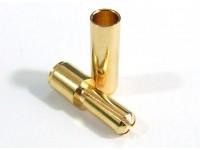 ゴールドメッキスプリングコネクタ3.5ミリメートル(10pair / 20PC)