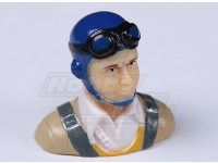 Parkflyクラシック時代のパイロット(ブルー)(H37 X W40 X D22mm)