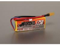 Rhinoの1250mAh 2S 7.4V 20CをLipolyパック