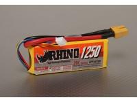 Rhinoの1250mAh 3S1P 20C Lipolyパック