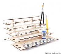 DIY Laser Cut  Paint Bottle Desk Organiser 5 Tier 275mm