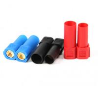 XT150コネクタワット/ 6ミリメートルゴールドコネクタ - レッド、ブルー&ブラック(5pairs /袋)
